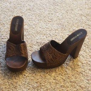 VS Colin Stuart leather wooden sandals
